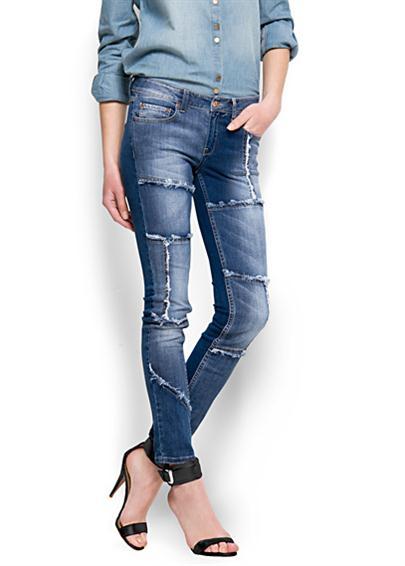 Patchwork Kot Pantolonlar(Jean)